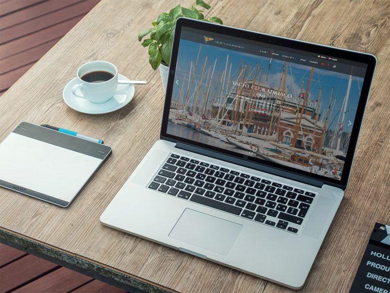 WP NO STRESS ha realizzato il restyling del sito multilingue di Yacht Club Adriaco Trieste con WordPress.